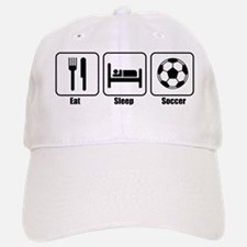 Eat Sleep Soccer BLK Baseball Baseball Cap