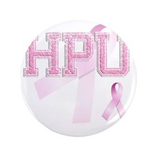 "HPU initials, Pink Ribbon, 3.5"" Button"