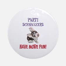 Parti Schnauzers 1.0 Ornament (Round)
