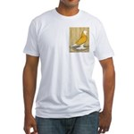 Yellow Bald West Fitted T-Shirt