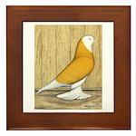 Yellow Bald West Framed Tile