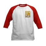 Yellow Bald West Kids Baseball Jersey