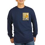Yellow Bald West Long Sleeve Dark T-Shirt