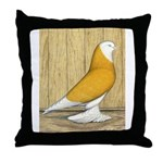 Yellow Bald West Throw Pillow