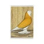 Yellow Bald West Rectangle Magnet (100 pack)