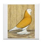Yellow Bald West Tile Coaster