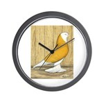 Yellow Bald West Wall Clock