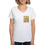 Yellow Bald West Women's V-Neck T-Shirt