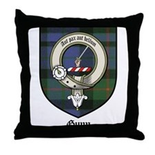 Gunn Clan Crest Tartan Throw Pillow
