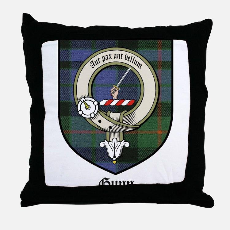 Gunn Clan Crest Tartan Throw Pillow
