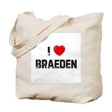 I * Braeden Tote Bag