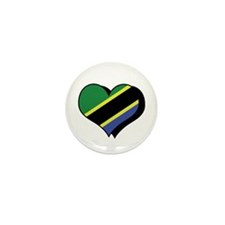 I Love Tanzania Mini Button (100 pack)
