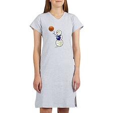 Basketball Snowman Women's Nightshirt