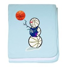 Basketball Snowman baby blanket