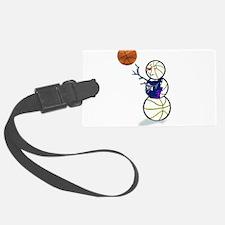 Basketball Snowman Luggage Tag