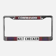 Commando Kilt Checker! License Plate Frame