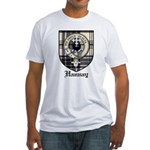 Hannay Clan Crest Tartan Fitted T-Shirt