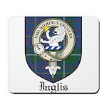 Inglis Clan Crest Tartan Mousepad