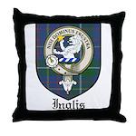 Inglis Clan Crest Tartan Throw Pillow