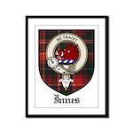Innes Clan Crest Tartan Framed Panel Print