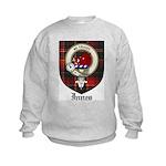 Innes Clan Crest Tartan Kids Sweatshirt