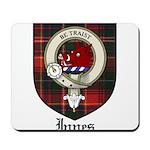 Innes Clan Crest Tartan Mousepad
