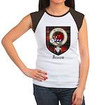Innes Clan Crest Tartan Women's Cap Sleeve T-Shirt