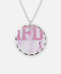 IFD initials, Pink Ribbon, Necklace