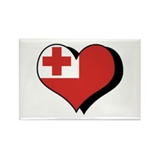 I Love Tonga Rectangle Magnet (100 pack)