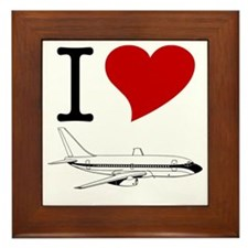 I Love Planes Framed Tile