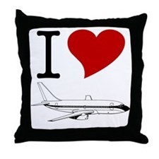I Love Planes Throw Pillow