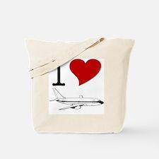 I Love Planes Tote Bag