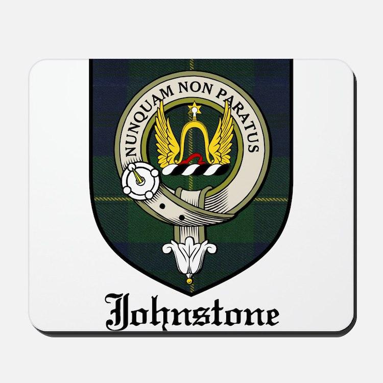 Johnstone Clan Crest Tartan Mousepad