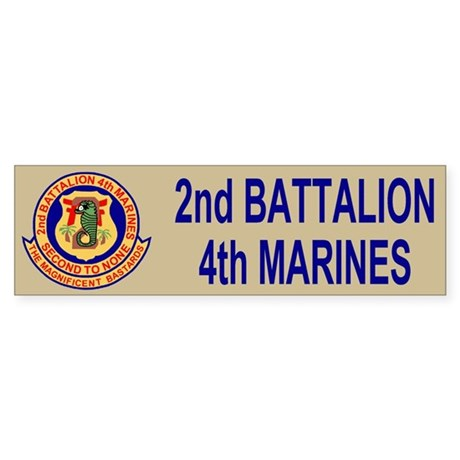 2nd Battalion 4th Marines<BR>Bumper Sticker