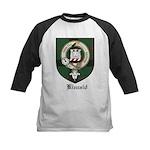 Kincaid Clan Crest Tartan Kids Baseball Jersey