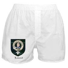 Lamont Clan Crest Tartan Boxer Shorts
