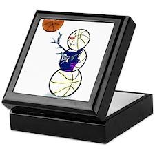 Basketball Snowman Keepsake Box