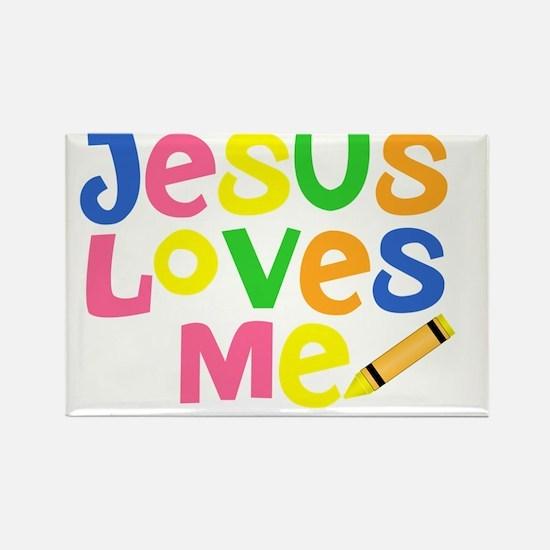 Jesus Loves Me - Kids Handwriting Rectangle Magnet