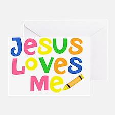 Jesus Loves Me - Kids Handwriting -  Greeting Card