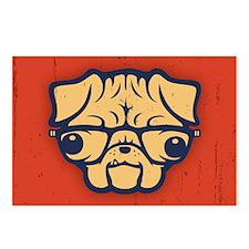pug-glasses-OV Postcards (Package of 8)