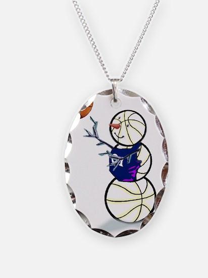 Basketball Snowman Necklace