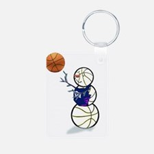 Basketball Snowman Keychains