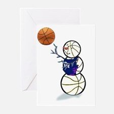 Basketball Snowman Greeting Cards (Pk Of 10)