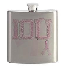 IOU initials, Pink Ribbon, Flask