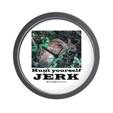 Hunt Yourself Jerk Wall Clock
