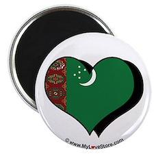 """I Love Turkmenistan 2.25"""" Magnet (100 pack)"""