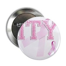 """ITY initials, Pink Ribbon, 2.25"""" Button"""