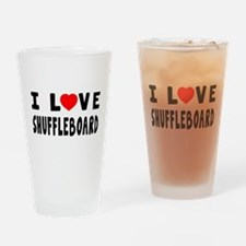 I Love Shuffleboard Drinking Glass