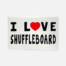 I Love Shuffleboard Rectangle Magnet