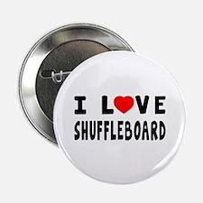"""I Love Shuffleboard 2.25"""" Button (100 pack)"""